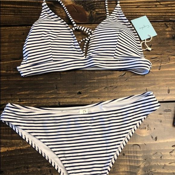 920a80806b531 Cupshe Hit Summer Stripe Bikini set size medium